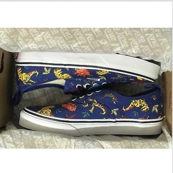 Vans Kid Dinosaur Authentic Elastic Lace Shoes 👟 001ec51ec